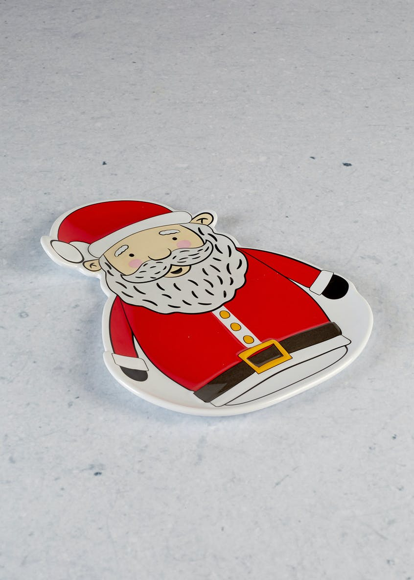 Santa Shaped Christmas Plate (25cm)