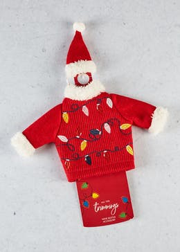 Wine Bottle Christmas Jumper Accessory (15cm x 13cm)