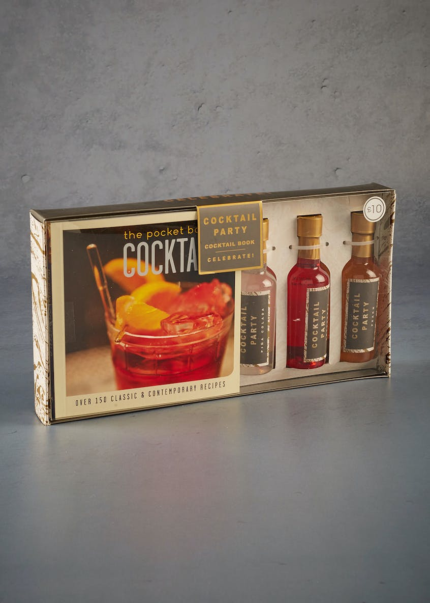 Cocktail Recipe Book & Syrups Gift Set