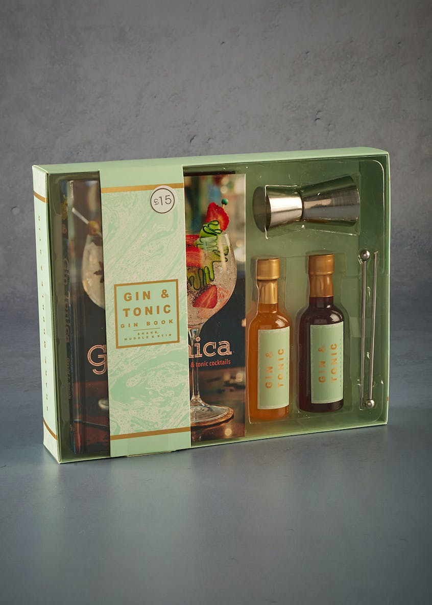 Gin Recipe Book & Flavouring Gift Set