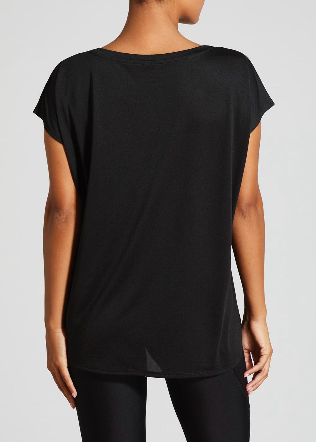 Souluxe Black Slouch Gym T-Shirt