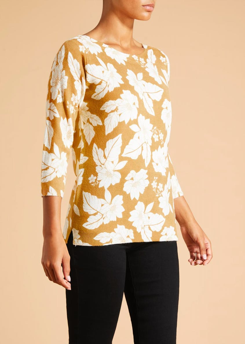 Floral Super Soft Boat Neck Jumper