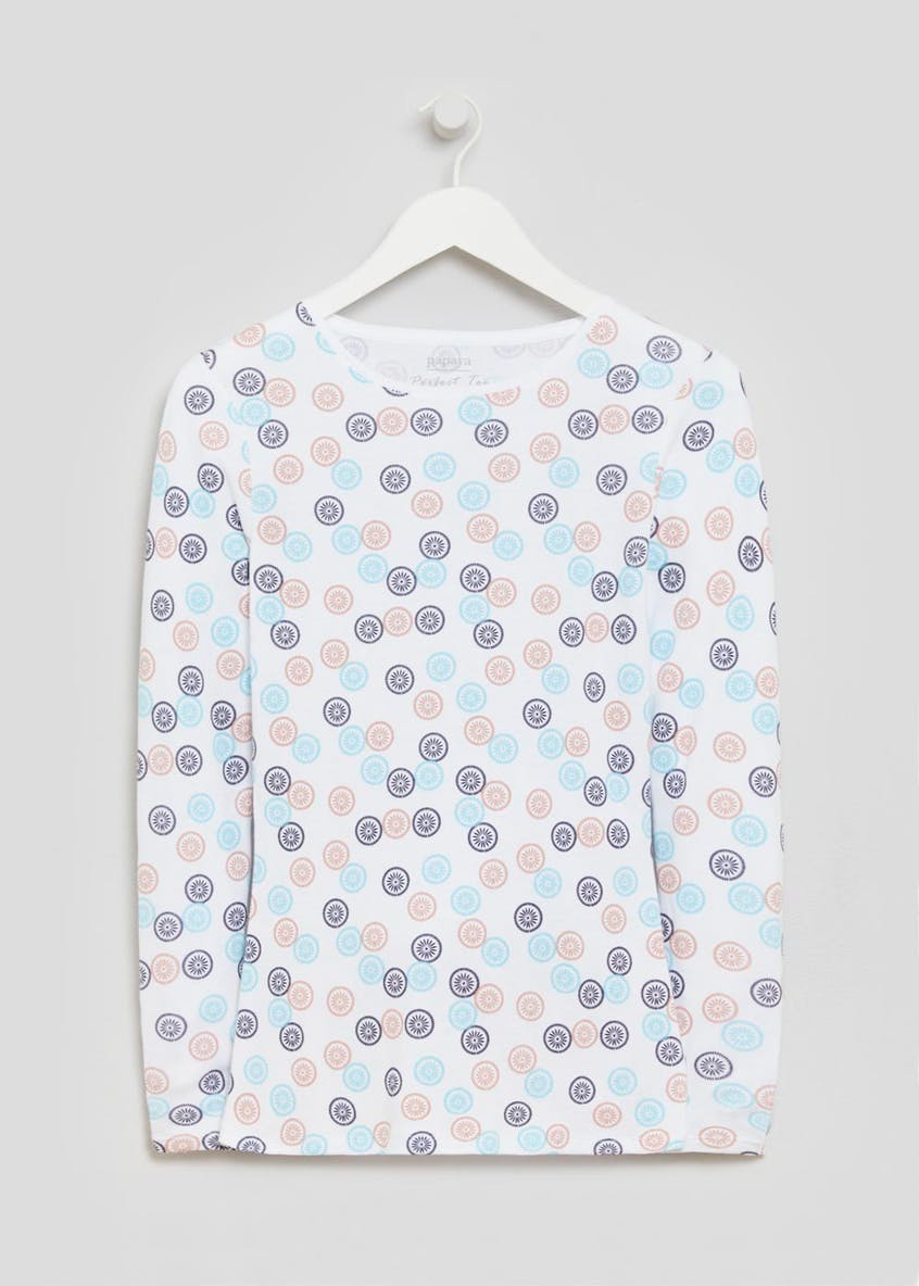 Geo Print Long Sleeve T-Shirt