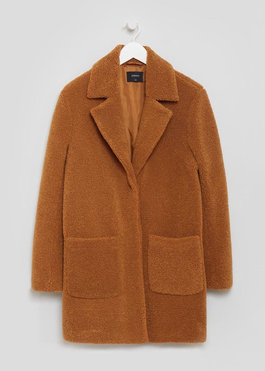 Teddy Faux Fur Boyfriend Coat