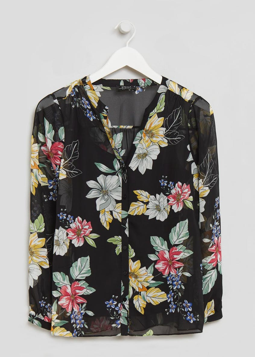 Floral Blouse with Cami