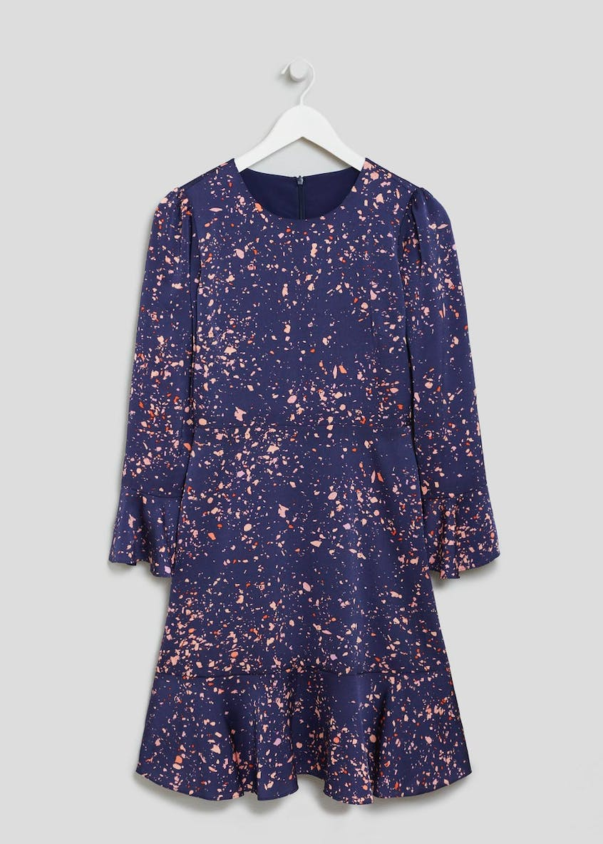 FWM Cosmic Print Bell Sleeve Dress - Navy