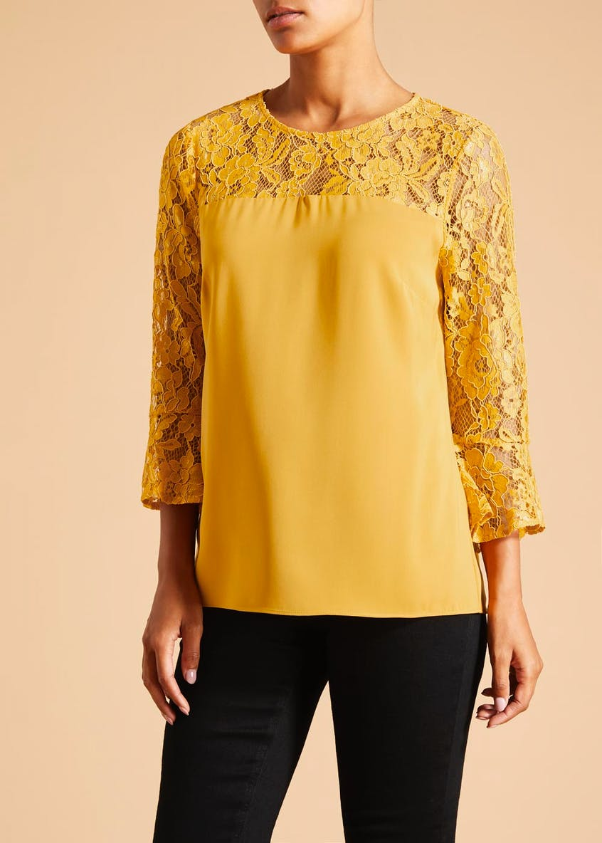 Soon Lace Yoke Blouse