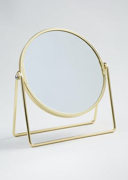 Wire Stand Double Sided Mirror (21cm x 19cm)