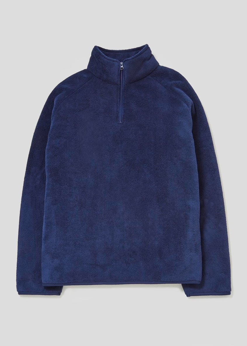 Borg Fleece Loungewear Half Zip Top