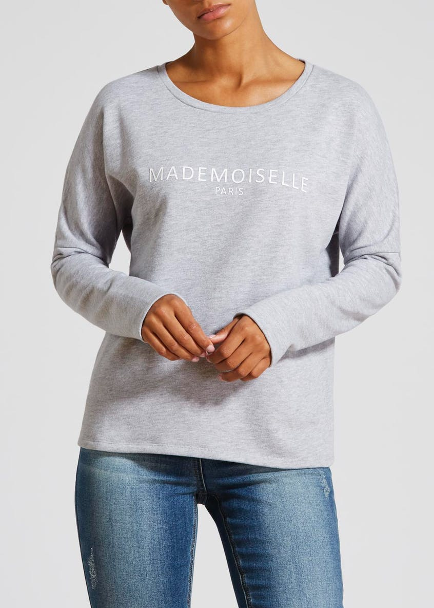 Slogan Drop Shoulder Sweatshirt