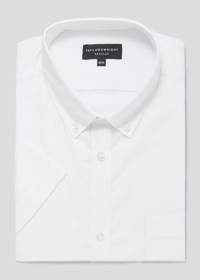 Easy to Iron Cotton Short Sleeve Oxford Shirt