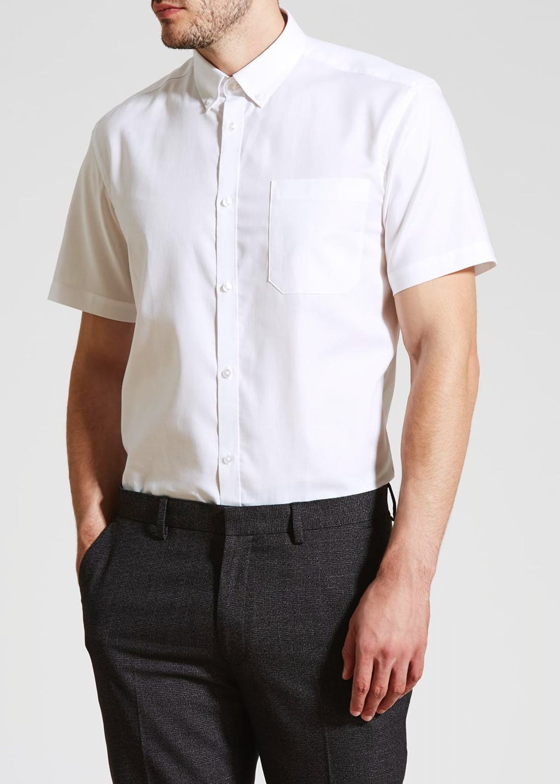 Taylor & Wright Easy Iron Short Sleeve Oxford Shirt