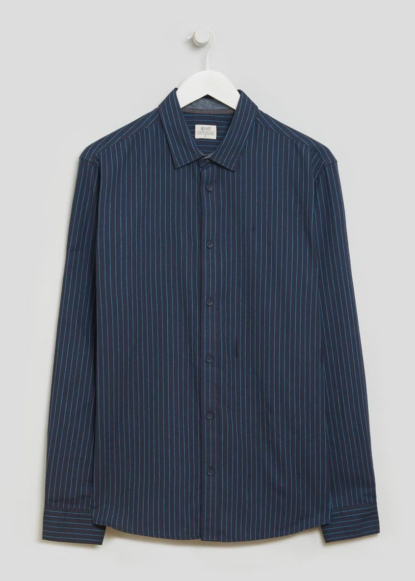 Long Sleeve Heathered Stripe Shirt
