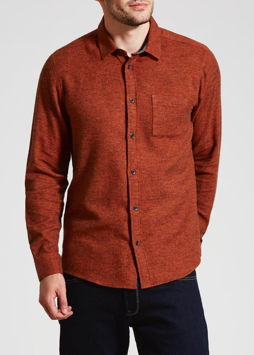 Long Sleeve Brushed Twill Shirt