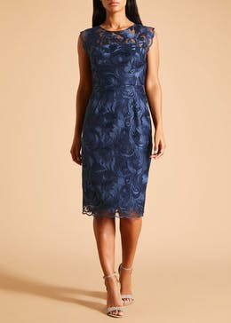FWM Lace Shift Dress - Navy
