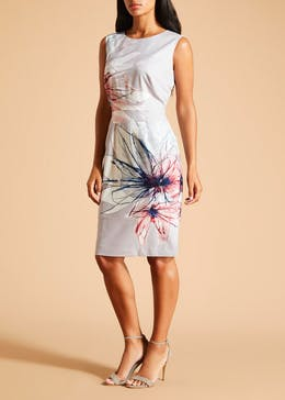 FWM Floral Shift Dress - Grey