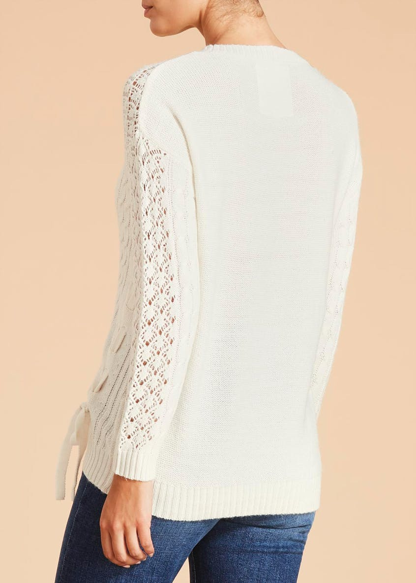 Falmer Lace Up Pointelle Jumper