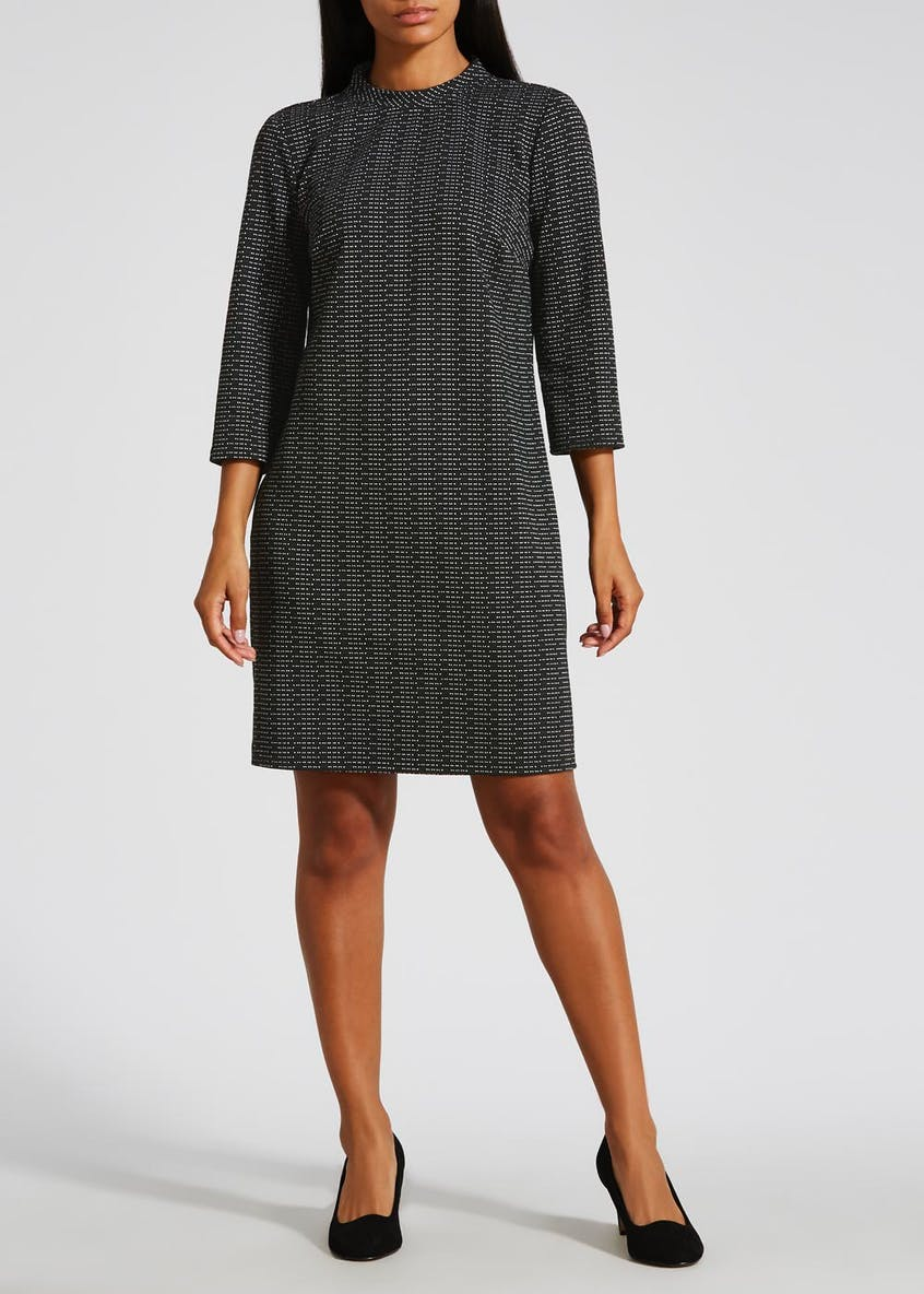 High Neck Ponte Dress