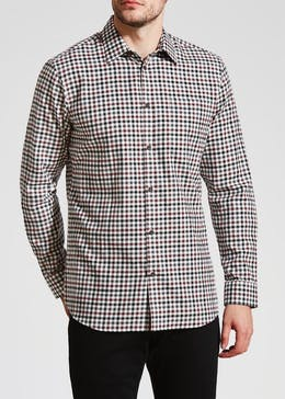 Connors Long Sleeve Gingham Check Shirt