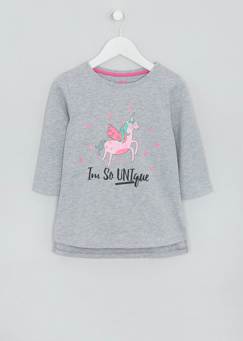 Girls Graphic Unicorn Long Sleeve T-Shirt (4-13yrs)