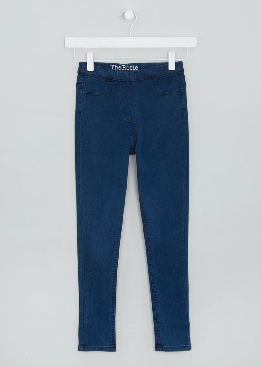 Girls Indigo Wash Jeggings (4-13yrs)