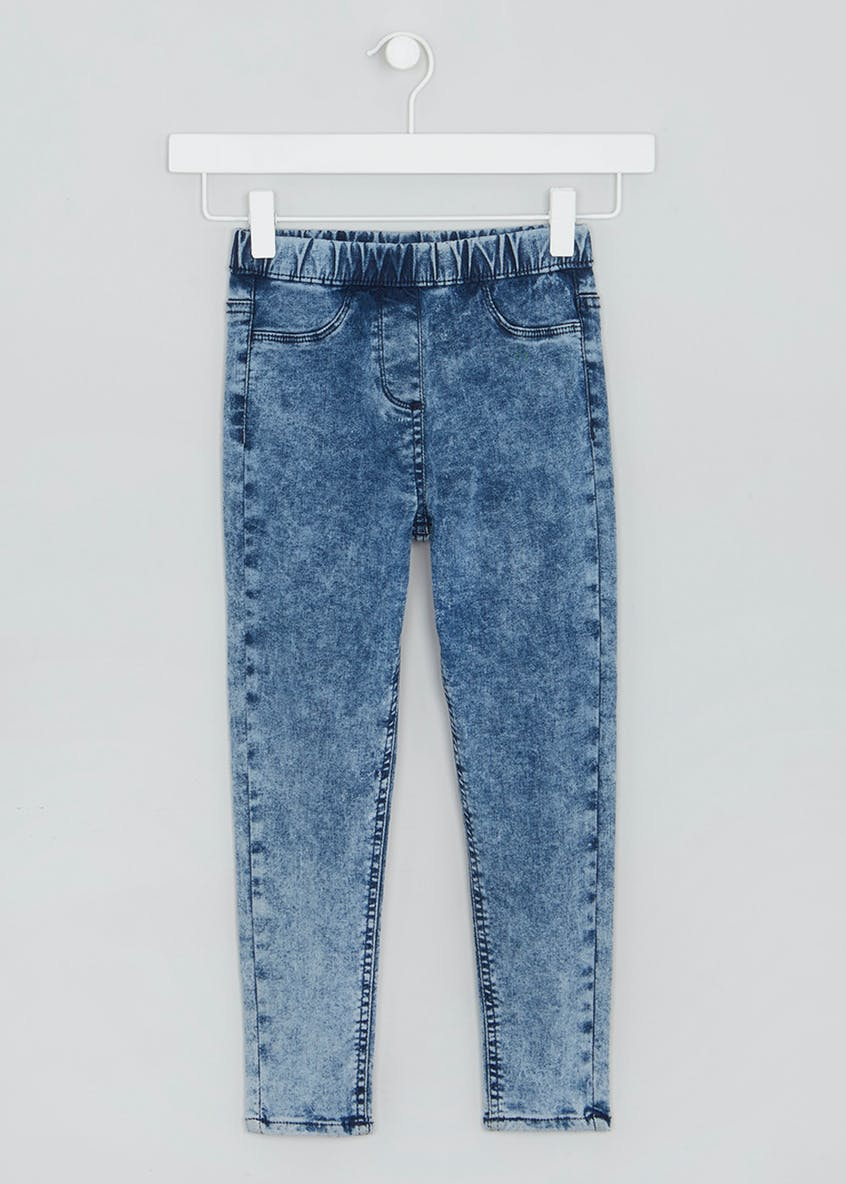 Girls Acid Wash Jeggings (4-13yrs)