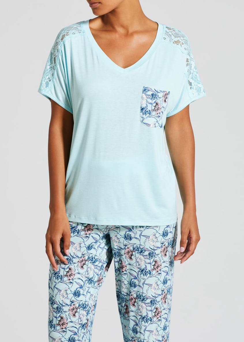 Floral Pocket Viscose Pyjama Top