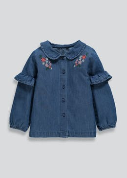 Girls Embroidered Denim Shirt (3mths-6yrs)