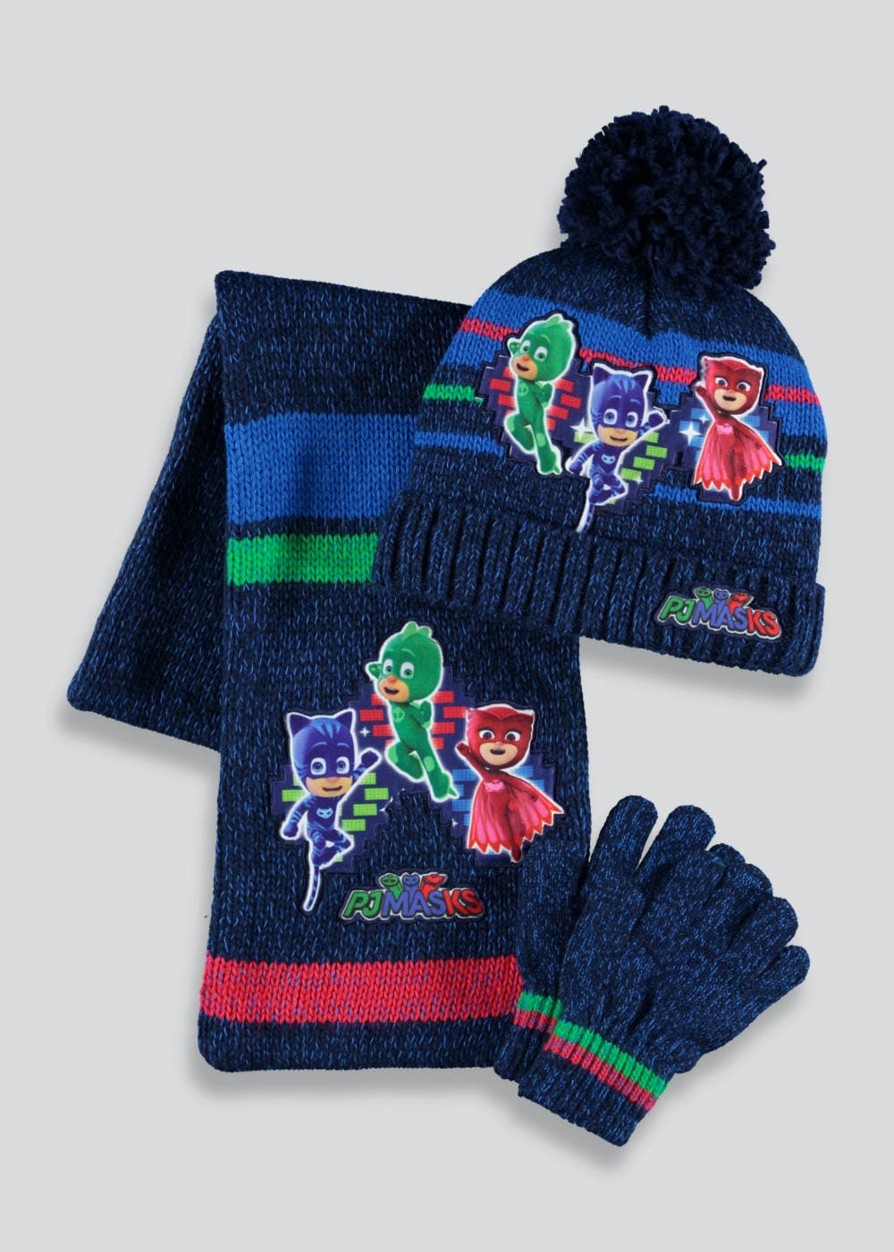 036b0adc Kids PJ Masks Hat Scarf & Gloves Set (2-6yrs) – Navy – Matalan