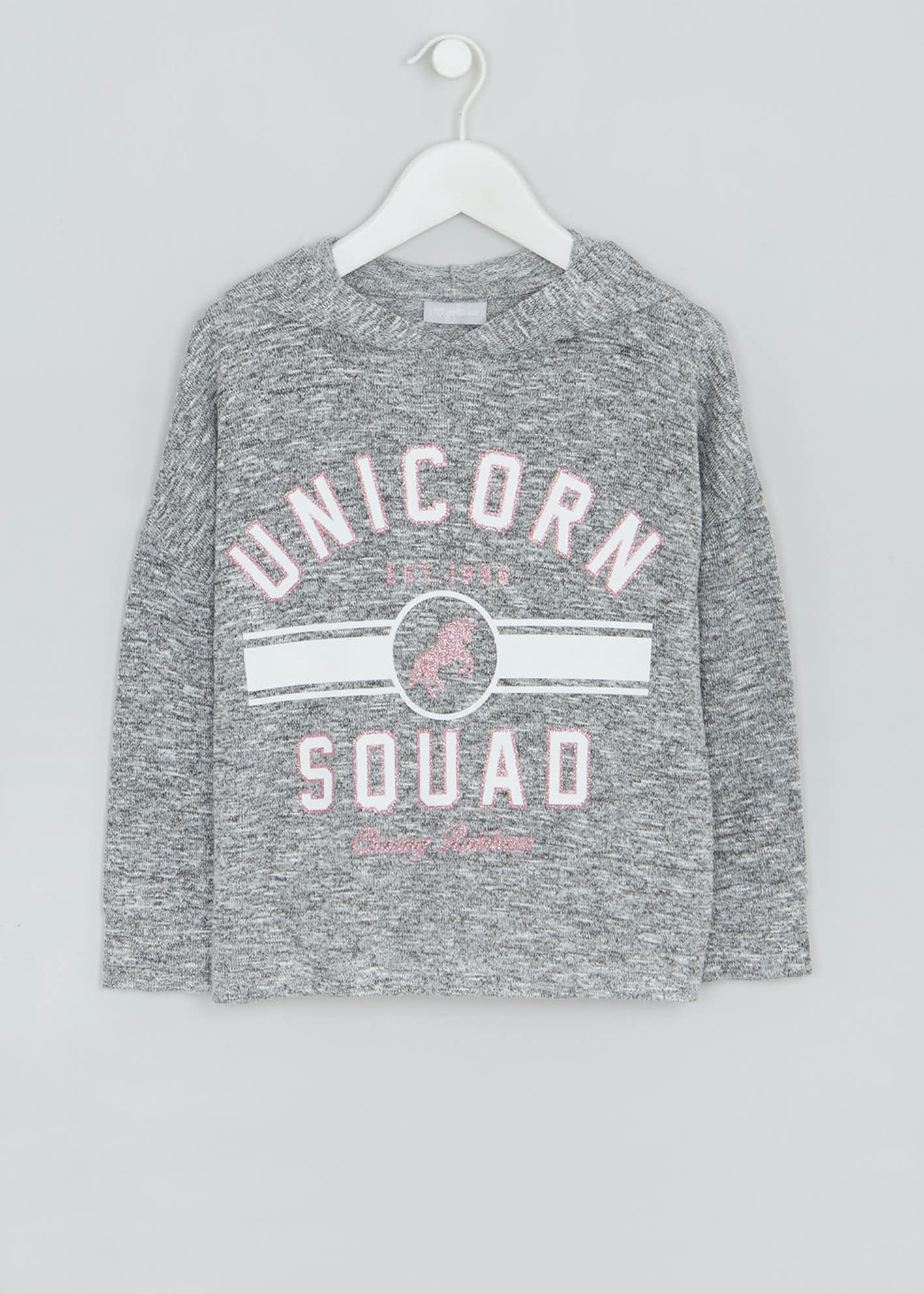 Girls Unicorn Knit Hoodie (4-13yrs)