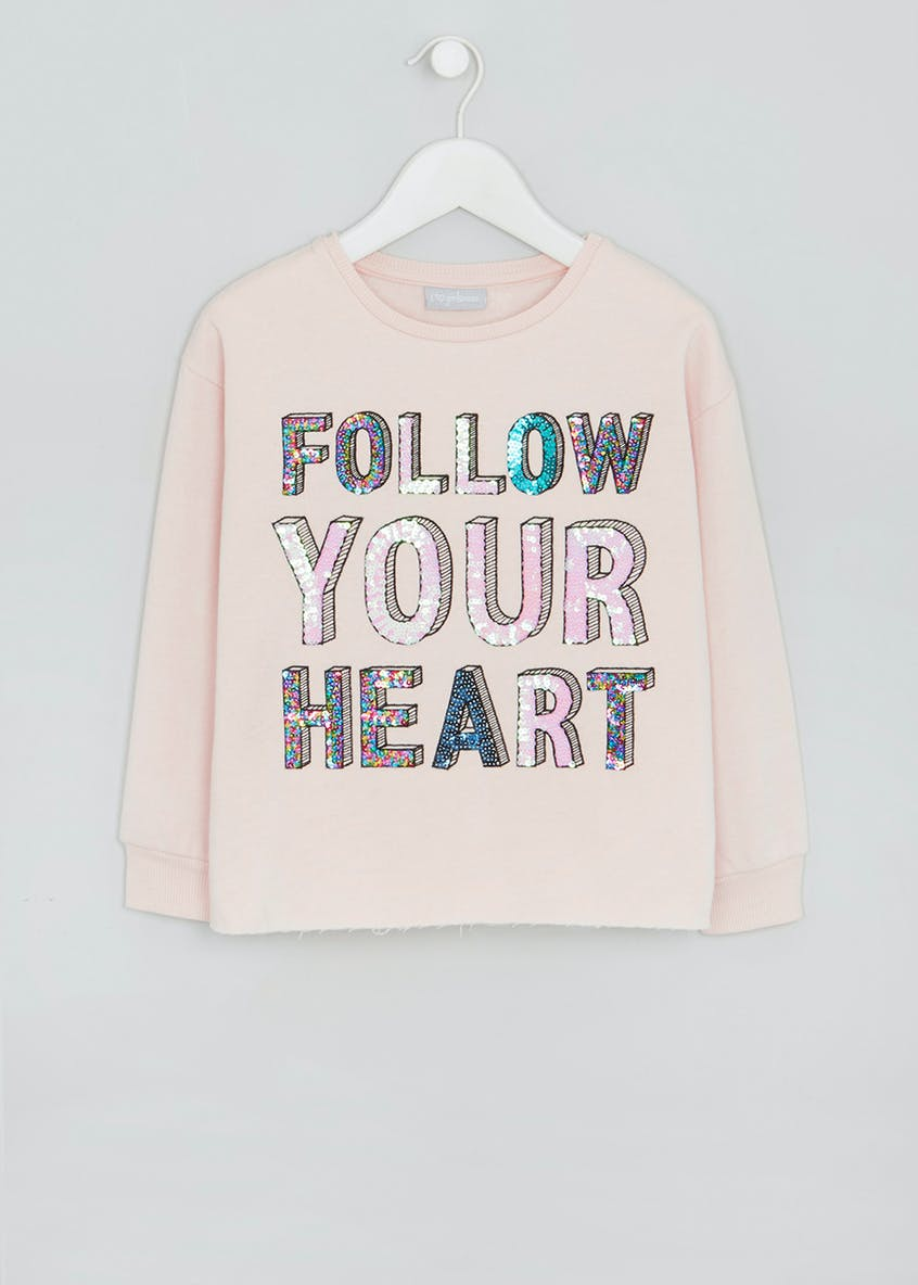 Girls Sequin Slogan Sweatshirt (4-13yrs)