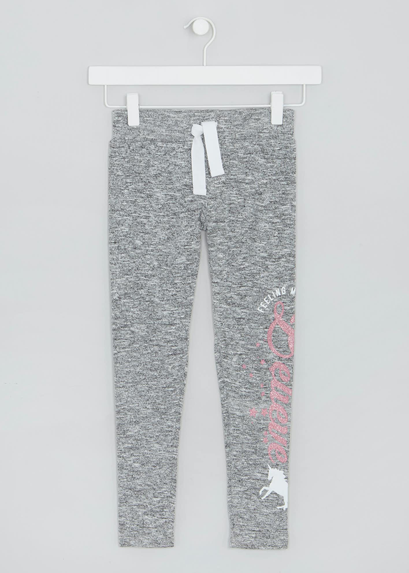 Girls Unicorn Knit Jogging Bottoms (4-13yrs)