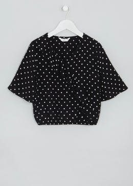 Girls Candy Couture Polka Dot Wrap Top (9-16yrs)