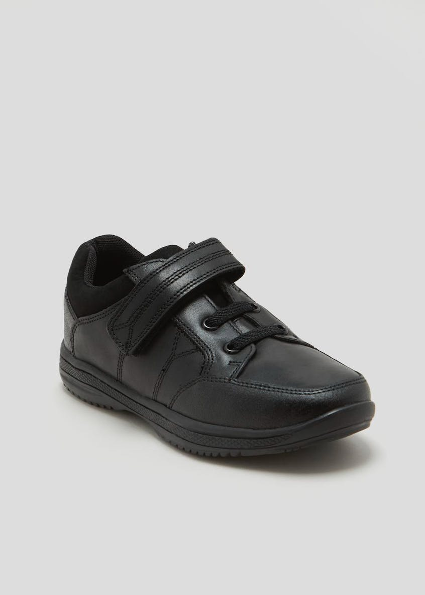 Boys Real Leather School Shoes (Younger 10-Older 6)