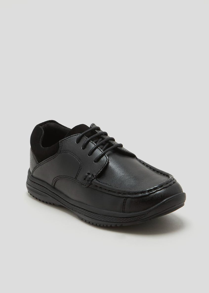 Boys Real Leather Apron School Shoes (Younger 10-Older 6)