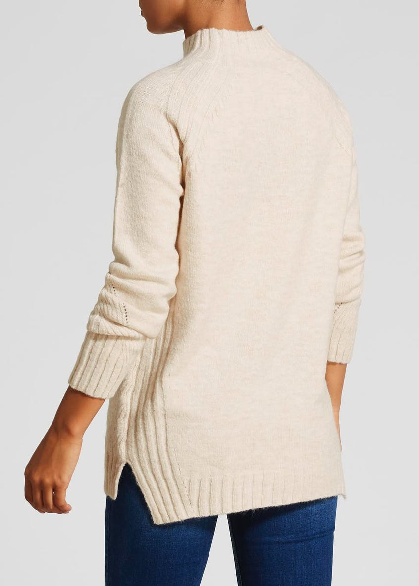 Turtle Neck Cable Knit Tunic Jumper