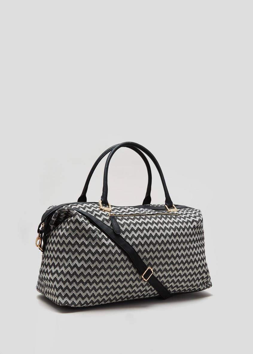 Geo Chevron Weekend Bag