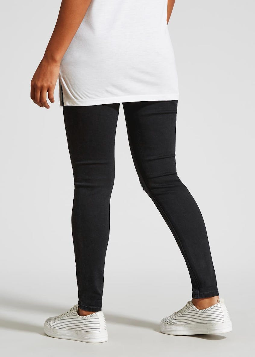 Maternity Over Bump Distressed Skinny Jeans