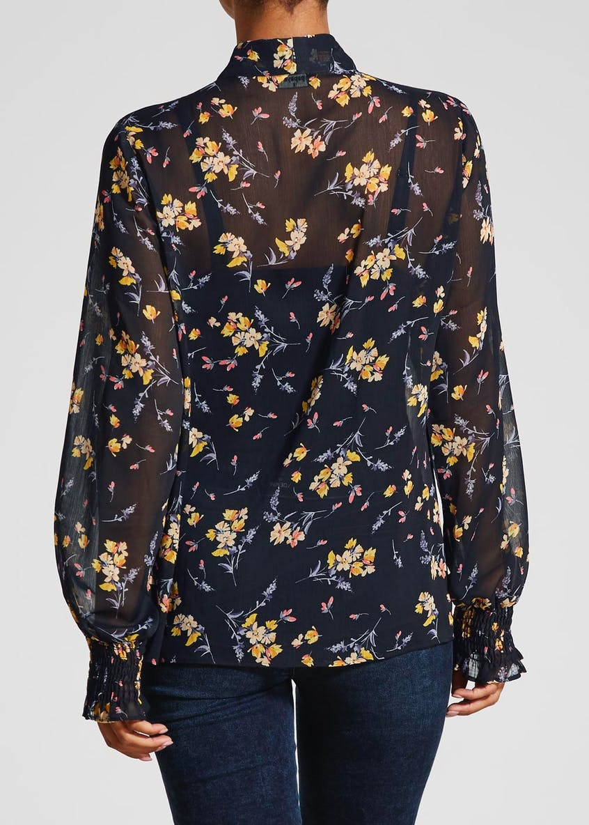 Floral Pussybow Blouse