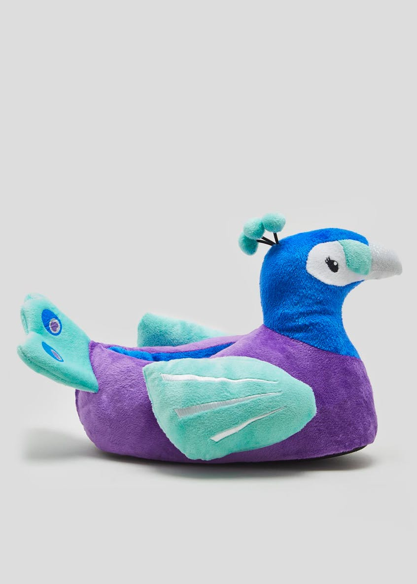 3D Peacock Slippers