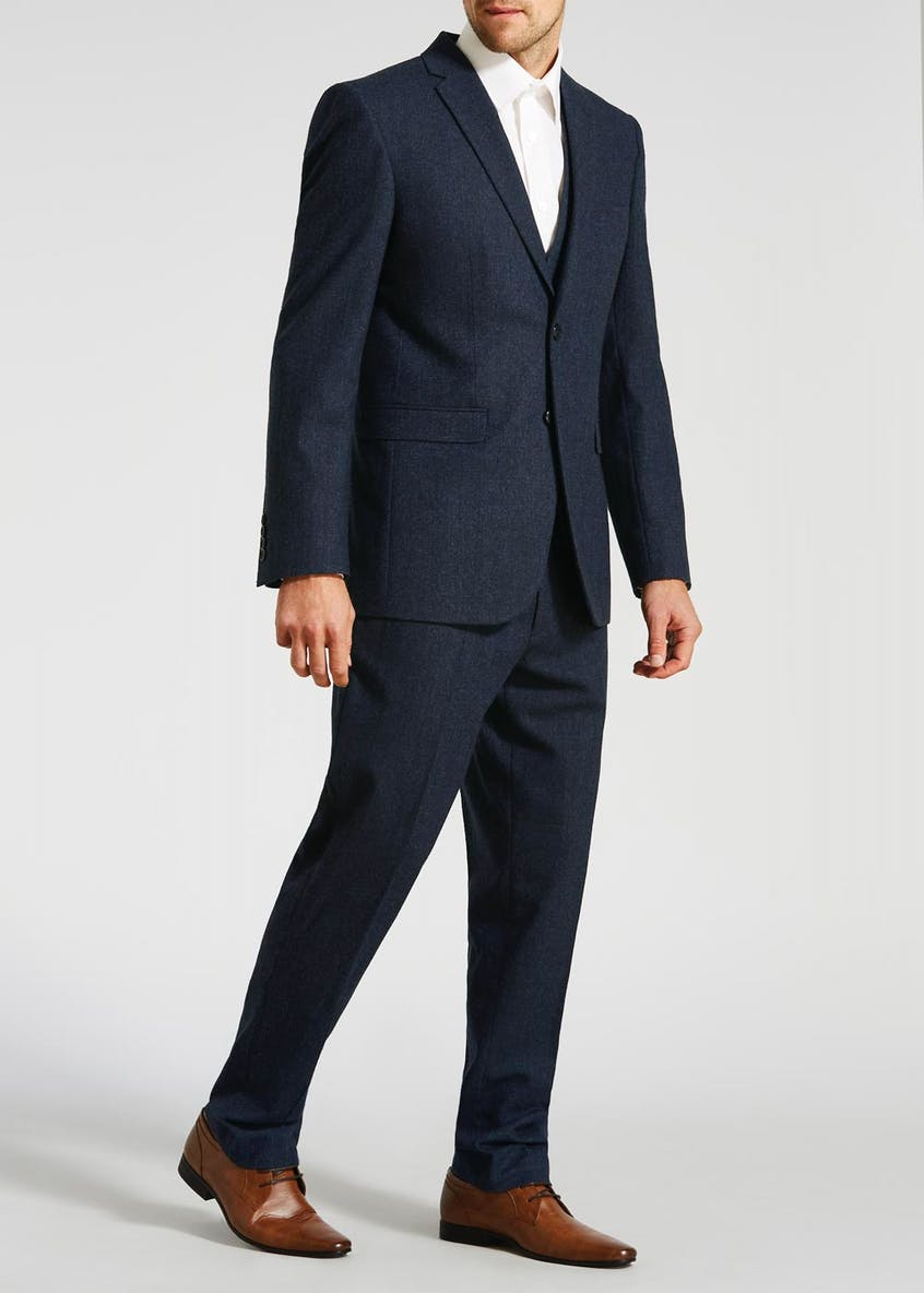 Edwards Tailored Fit Donegal Suit Trousers