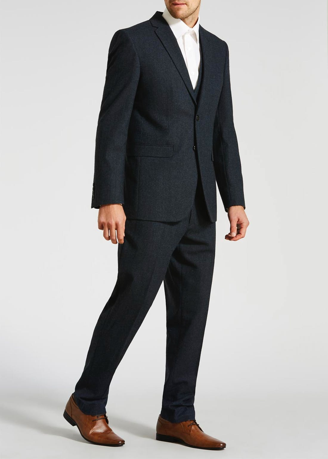 Edwards Tailored Fit Donegal Suit Waistcoat