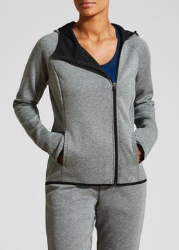 Souluxe Bonded Zip Through Hoodie