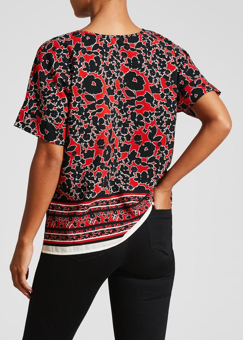 Floral Batwing Box Top