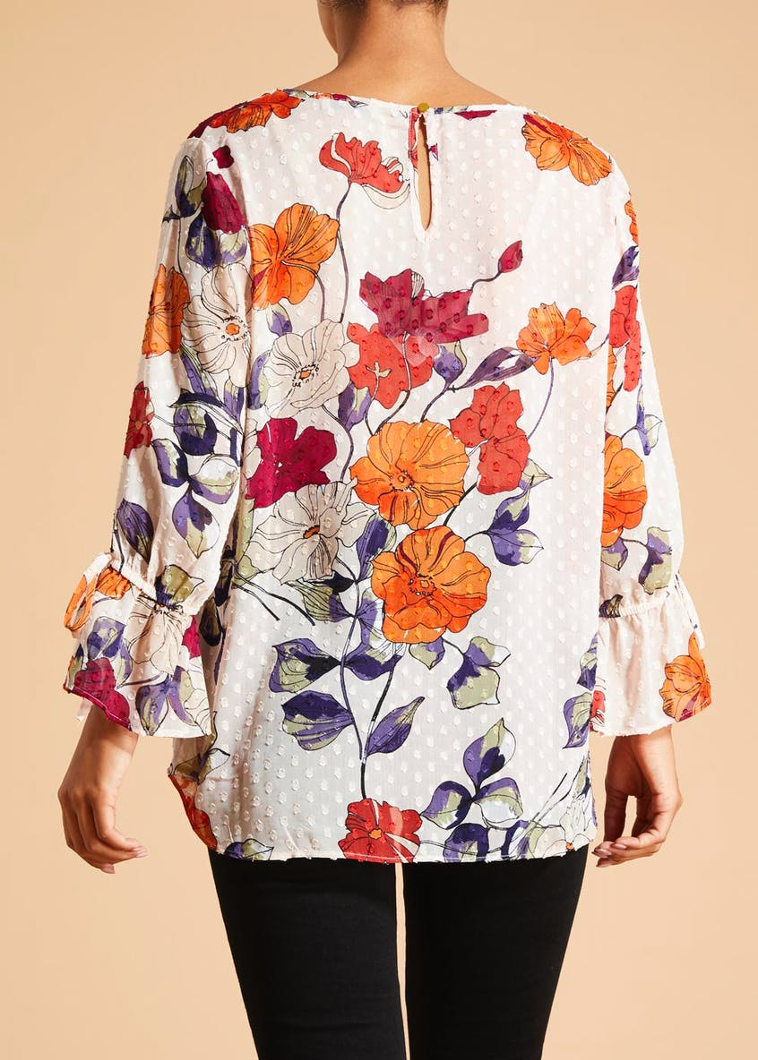 Soon Grace Floral Dobby Blouse