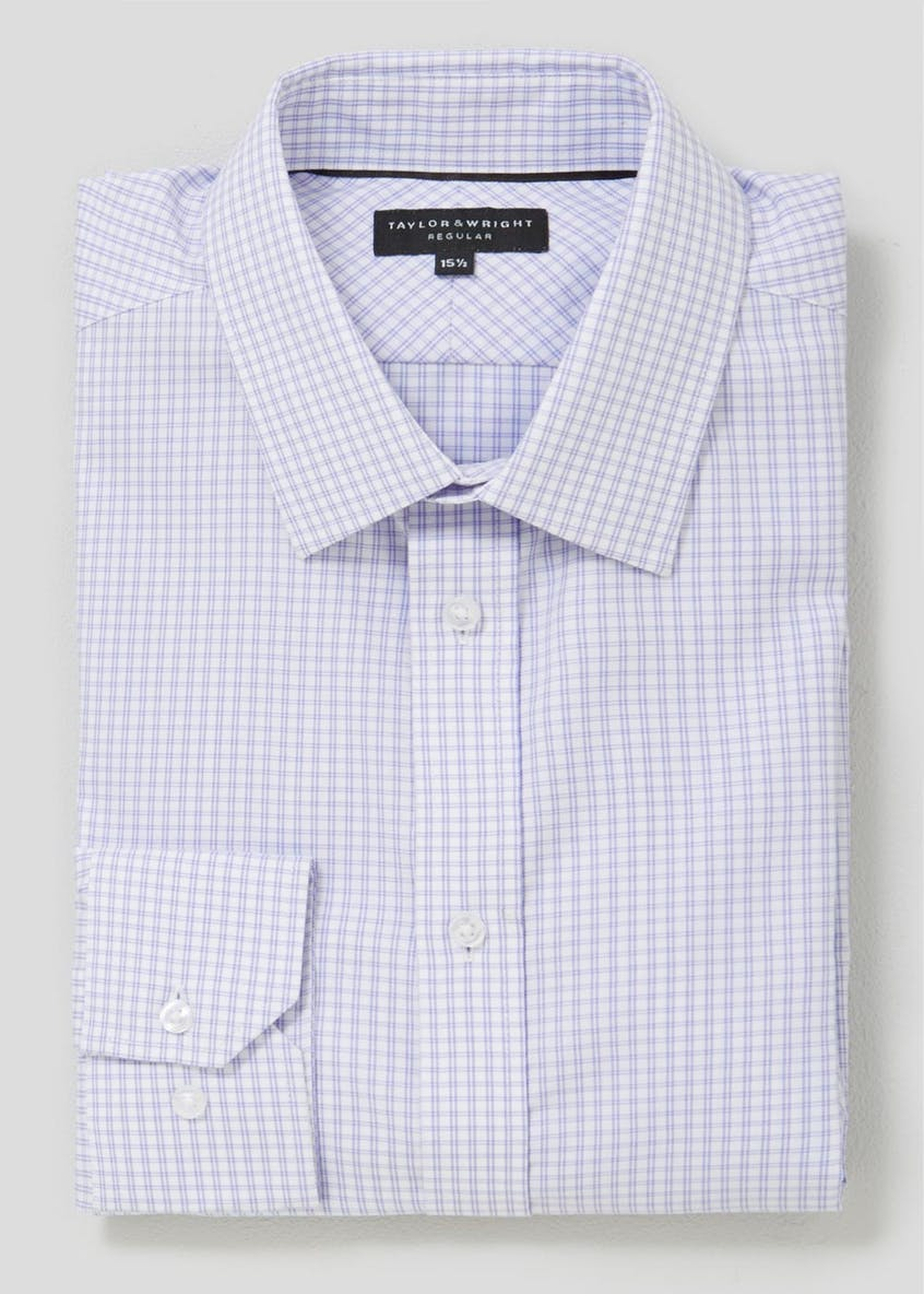 Easy to Iron Premium Windowpane Check Shirt