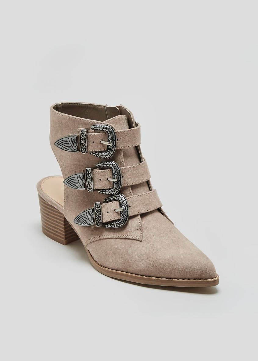 Buckle Western Boots