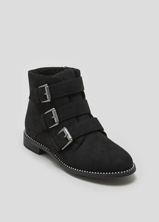 Girls Triple Strap Boots (Younger 10-Older 5)
