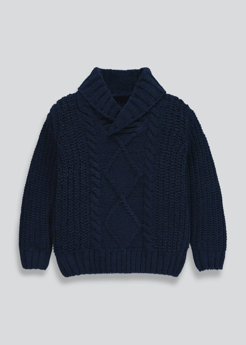 Boys Chenille Knitted Jumper (3mths-6yrs)
