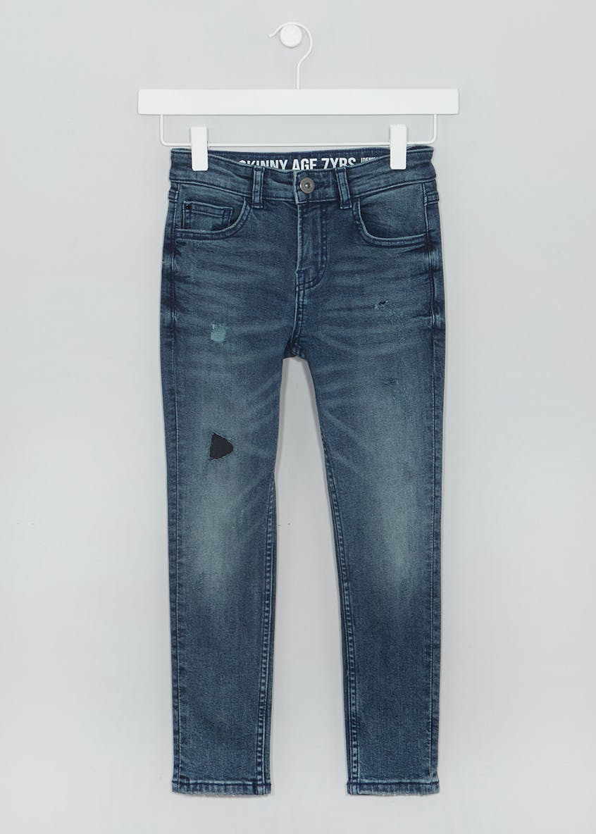 Boys Rip & Repair Stretch Skinny Jeans (4-13yrs)